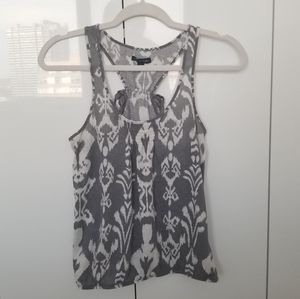 American Eagle - Grey and White Racerback …